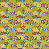 Seamless pattern with cartoon houses Royalty Free Stock Photo