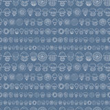 Seamless pattern with cartoon jellyfish Royalty Free Stock Photography
