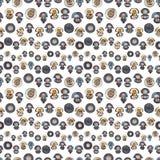 Seamless pattern with cartoon jellyfish Royalty Free Stock Image