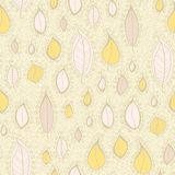 Seamless pattern with cartoon leaf Royalty Free Stock Image