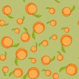 Seamless pattern with cartoon peaches. Fruits repeating background. Endless print texture. Wallpaper 593 Royalty Free Stock Photos