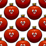 Seamless pattern of cartoon pomegranate fruits Royalty Free Stock Photos