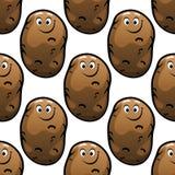 Seamless pattern of cartoon potatoes Stock Image