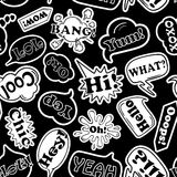 Seamless Pattern Of Cartoon Speech Bubbles. Royalty Free Stock Photo