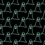 Seamless pattern of cartoon spooky scary ghosts character, hand-drawn ghosts for halloween celebration. Seamless pattern of cartoon spooky scary ghosts character Royalty Free Stock Image