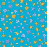 Seamless pattern with cartoon style stars Royalty Free Stock Photos