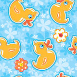 Seamless pattern with cartoon toy Royalty Free Stock Images