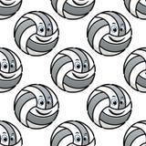 Seamless pattern of cartoon volleyballs Royalty Free Stock Photos