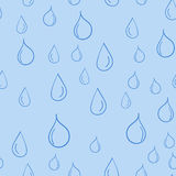 Seamless pattern of cartoon water drop Royalty Free Stock Photo
