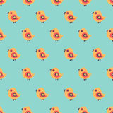 Seamless pattern with cartoon yellow chicks Royalty Free Stock Image