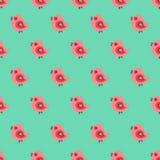 Seamless pattern with cartoon yellow chicks Stock Photography