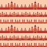 Seamless pattern  With Castle princess fairytale landscape. Vector Royalty Free Stock Image