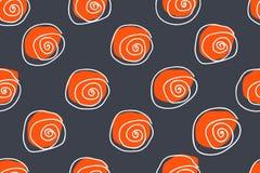 Seamless Pattern. Casual Polka Dot Texture. Kids Sketch with Circles Stock Photos