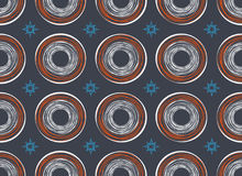 Seamless Pattern. Casual Polka Dot Texture. Kids Sketch with Circles Royalty Free Stock Photos