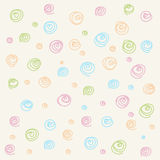 Seamless pattern. Casual polka dot texture. Stylish doodle Royalty Free Stock Photography