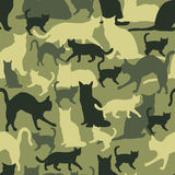 Seamless pattern cat camouflage Royalty Free Stock Image
