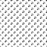 Seamless pattern of cat or dog footprint Royalty Free Stock Photo