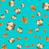 Seamless pattern of cat and dog royalty free illustration