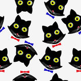 Seamless pattern with cat faces. Seamless pattern with cat faces, illustration stock illustration
