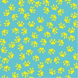 Seamless pattern of cat footprint. Vector illustration. Cute background for print on fabric, paper, scrapbooking Royalty Free Stock Photos