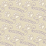 Seamless pattern with cat footprints Royalty Free Stock Photo