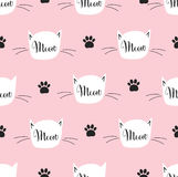 Seamless pattern with cat. Meow pattern. Stock Images