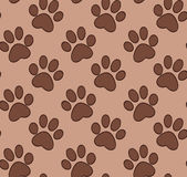 Seamless pattern with cat's and dog's paw Stock Photo