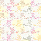 Seamless Pattern with Cat Silholuettes Stock Photos