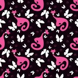 Seamless pattern with cats Royalty Free Stock Images