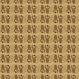 Seamless pattern with cats Royalty Free Stock Photo