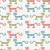 Seamless pattern with cats Stock Image