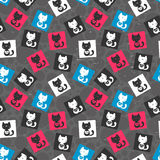 Seamless pattern with cats Royalty Free Stock Photos