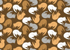 Seamless pattern with cats Stock Photos