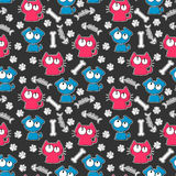 Seamless pattern with cats and dogs. Seamless pattern with funny cats and dogs royalty free illustration