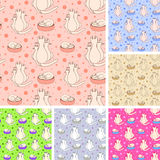 Seamless pattern with cats.Eps 8 Stock Photography