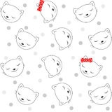 Seamless pattern with cats face. Vector illustration Royalty Free Stock Image