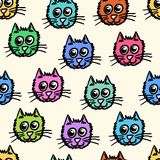 Seamless pattern of the cats Royalty Free Stock Photo