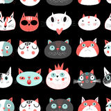 Seamless pattern of cats Royalty Free Stock Images