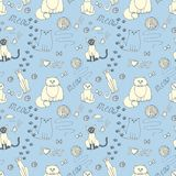 Seamless pattern with cats Royalty Free Stock Image