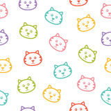 Seamless pattern with cats. Seamless vector pattern with colorful cats Royalty Free Stock Images
