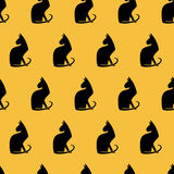 Seamless pattern with cats. Vector illustration Royalty Free Stock Photos