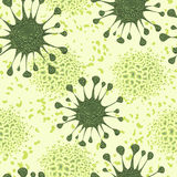 Seamless pattern with cells of virus and microbe. Stock Image