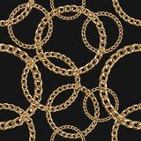 Seamless pattern with chain for fabric design. royalty free illustration
