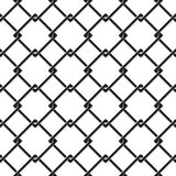 Seamless pattern of chain fence Stock Photography