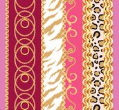 Seamless pattern with chains vector illustration