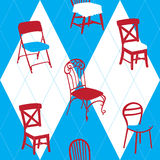 Seamless Pattern With Chairs Royalty Free Stock Image