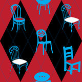 Seamless Pattern With Chairs for Hotel, Home, Club Royalty Free Stock Images