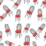 Seamless pattern with chairs Stock Photo