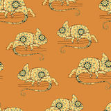 Seamless pattern with chameleon Royalty Free Stock Image