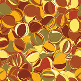 Seamless pattern with chaotic rows of  grunge striped and stained ovals Royalty Free Stock Photography